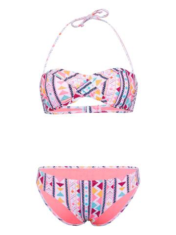 """Chiemsee Bikini """"Ebony"""" w kolorze jasnoróżowym ze wzorem"""