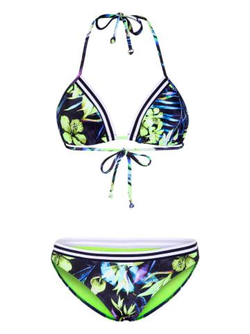 """Chiemsee Bikini """"Porgy"""" w kolorze granatowym ze wzorem"""