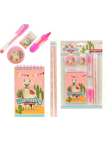 """Toi-Toys 7-częściowy zestaw """"Lama"""" w kolorze różowym"""