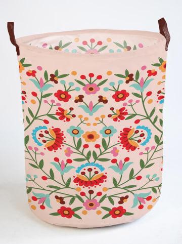 """Madre Selva Kids Opbergmand """"Mexican Flowers"""" lichtroze/meerkleurig - (B)40 x (H)50 cm"""