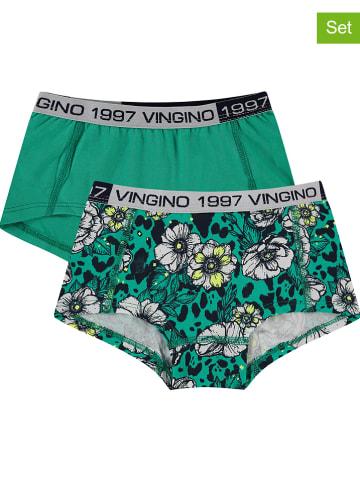 """Vingino Pełnych majtek (2 pary) """"Sanne"""" w kolorze zielonym"""