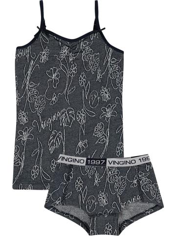 "Vingino Pyjama ""Semea"" donkerblauw/wit"