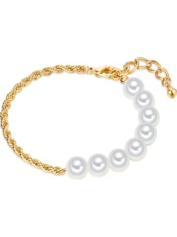 Perldesse Pozłacana bransoletka z perłami