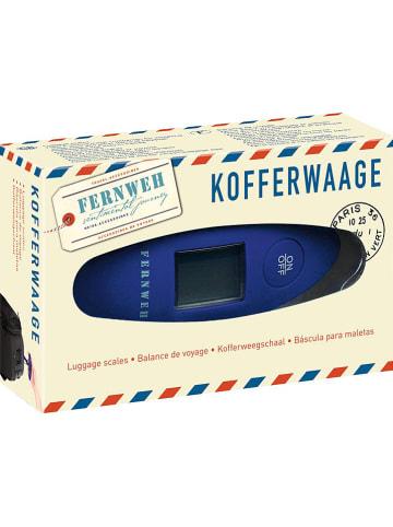 "Moses. Kofferwaage ""Fernweh"" in Blau - (L)12 x (B)8 cm"