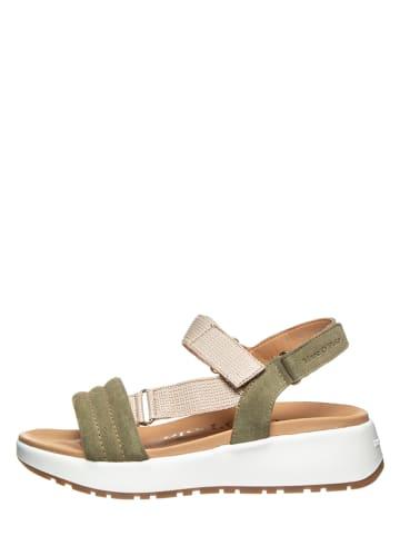 """Marc O'Polo Shoes Skórzane sandały """"Sporty 6B"""" w kolorze oliwkowym"""