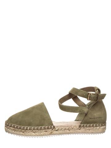 """Marc O'Polo Shoes Leder-Espadrilles """"Gem 2B"""" in Oliv"""