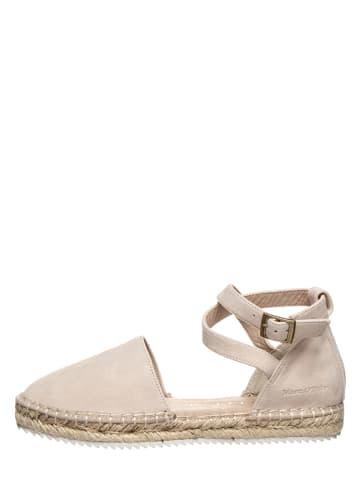 """Marc O'Polo Shoes Leren espadrilles """"Gem 2B"""" beige"""
