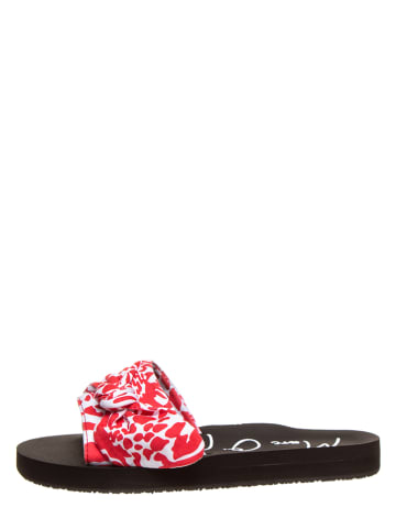"""Marc O'Polo Shoes Klapki """"Monika 3D"""" w kolorze czerwono-białym"""