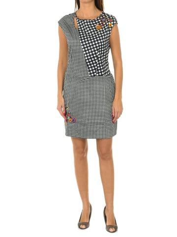 Desigual Kleid in Schwarz/ Weiß