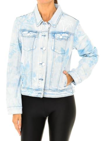 Desigual Kurtka dżinsowa w kolorze błękitnym