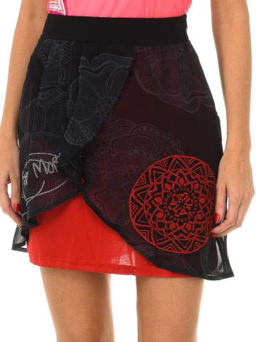 Desigual Spódnica w kolorze czerwono-czarnym