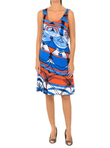 Desigual Sukienka w kolorze niebiesko-pomarańczowym