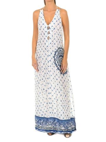 Desigual Sukienka w kolorze biało-niebieskim