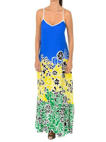 Desigual Sukienka w kolorze niebiesko-żółto-zielonym