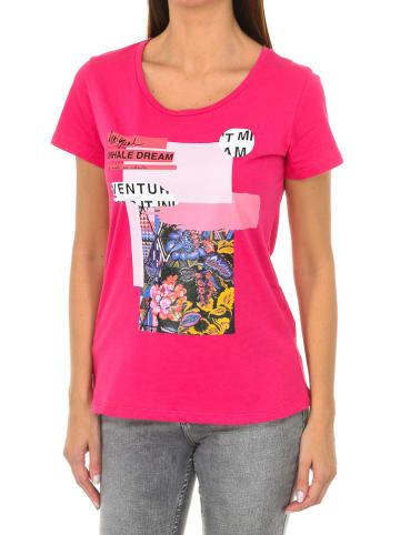 Desigual Koszulka w kolorze różowym