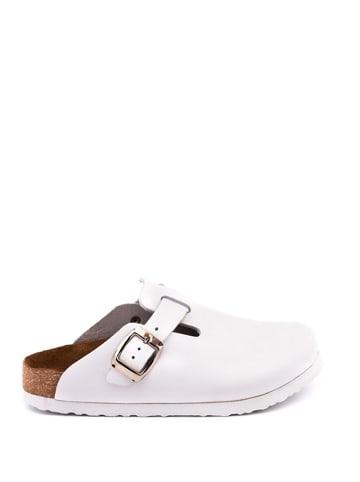 Comfortfusse Skórzane chodaki w kolorze białym