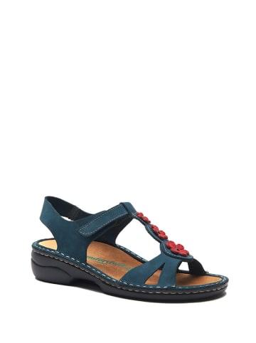 Comfortfusse Skórzane sandały w kolorze niebieskim