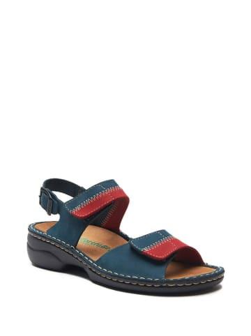 Comfortfusse Skórzane sandały w kolorze niebiesko-czerwonym