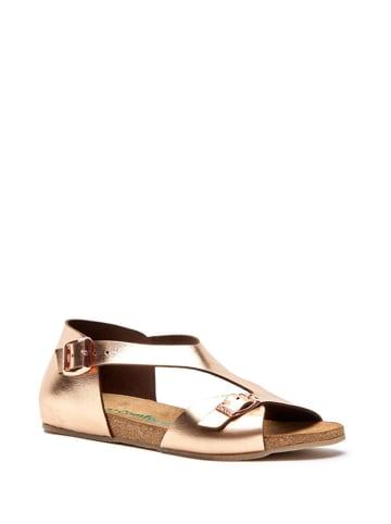 Comfortfusse Skórzane sandały w kolorze różowego złota