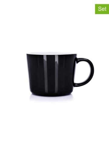 DUKA Kubek (2 szt.) w kolorze czarnym - 375 ml