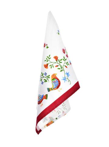 DUKA Ręcznik kuchenny w kolorze białym ze wzorem  - (D)50 x (S)70 cm