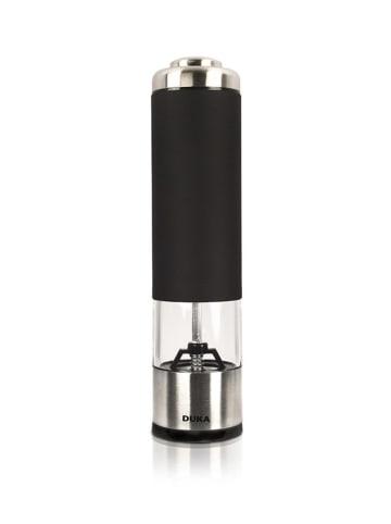 DUKA Młynek w kolorze czarno-srebrnym do pieprzu - (W)21 x Ø 5 cm