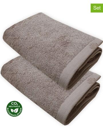 """Framsohn Ręczniki (2 szt.) """"Deluxe"""" w kolorze szarobrązowym do rąk"""