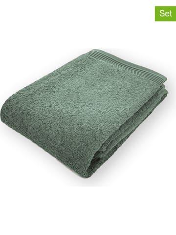 """Framsohn Ręczniki (2 szt.) """"Premium"""" w kolorze zielonym do rąk"""