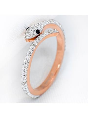 BOMBINHAS Pozłacany pierścionek z kryształami