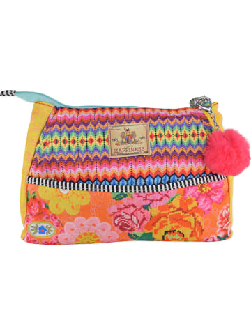 "HAPPINESS Kosmetiktasche ""Woodstock"" in Bunt/ Orange - (B)29 x (H)21,5 x (T)7 cm"