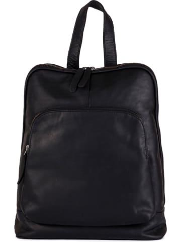 Neropantera Skórzany plecak w kolorze czarnym - 28 x 34 x 12 cm
