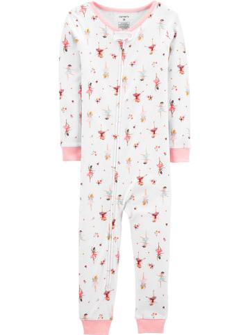 Carter's Piżama w kolorze biało-jasnoróżowym