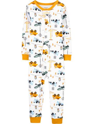 Carter's Piżama w kolorze białym ze wzorem