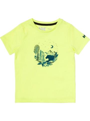 "Helly Hansen Koszulka ""Graphic"" w kolorze żółtym"