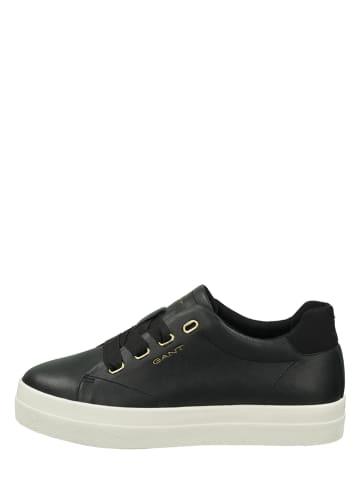 "GANT Footwear Leder-Sneakers ""Avona"" in Schwarz"