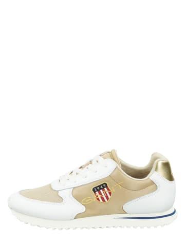 """GANT Footwear Leder-Sneakers """"Beja"""" in Beige/ Weiß"""