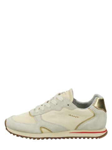 """GANT Footwear Leder-Sneakers """"Beja"""" in Beige"""
