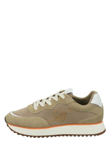 """GANT Footwear Leder-Sneakers """"Bevinda"""" in Beige"""