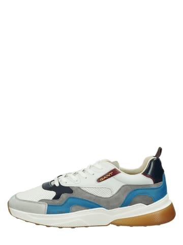 "GANT Footwear Leren sneakers ""Villagate"" grijs/blauw"