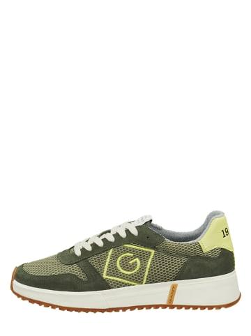"""GANT Footwear Leren sneakers """"Rawson"""" olijfgroen"""
