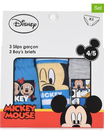 """Disney Mickey Mouse Slipki (3 pary) """"Mickey"""" w kolorze niebieskim, szarym i białym"""