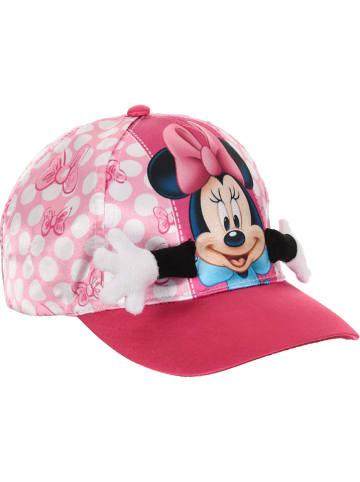 """Disney Minnie Mouse Czapka """"Minnie Mouse"""" w kolorze różowym ze wzorem"""