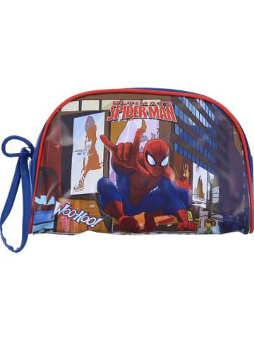 """Spiderman Piórnik """"Spider-Man"""" w kolorze niebieskim ze wzorem - 22 x 14 x 6,5 cm"""