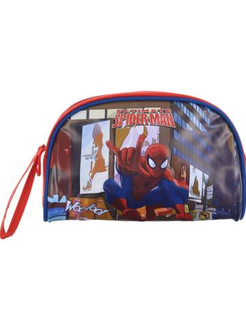 """Spiderman Piórnik """"Spider-Man"""" w kolorze czerwonym ze wzorem - 22 x 14 x 6,5 cm"""