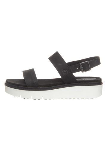 """Timberland Skórzane sandały """"Safari Dawn"""" w kolorze czarnym"""