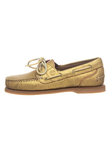 """Timberland Mokasyny """"Classic Boat"""" w kolorze złotym"""
