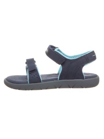 """Timberland Skórzane sandały """"Nubble"""" w kolorze granatowym"""