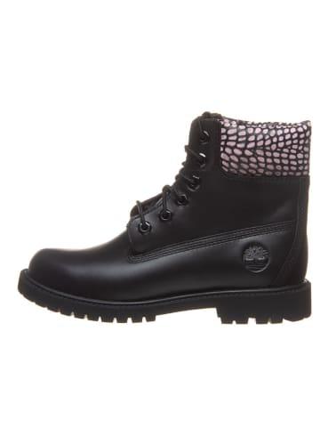 """Timberland Leder-Boots """"6in Heritage"""" in Schwarz - Weite W"""