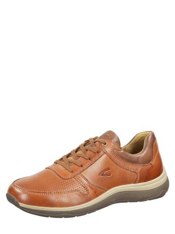 """Camel Active Skórzane sneakersy """"Peak"""" w kolorze brązowym"""
