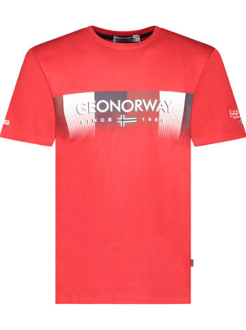 """Geographical Norway Shirt """"Jobody"""" in Rot"""